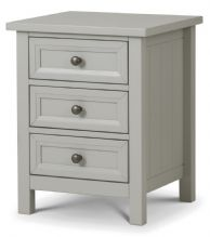Maine Dove Grey 3 Drawer Bedside